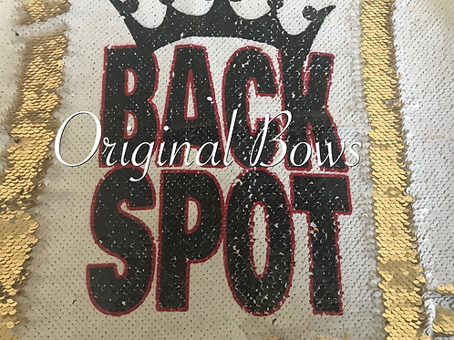 BACK SPOT Mermaid Reversible Sequin Pillow white and gold Cheer Room Decor