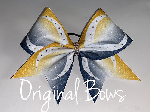 Infinity 2 toned Ombre Glitter Rhinestone Cheer Bow