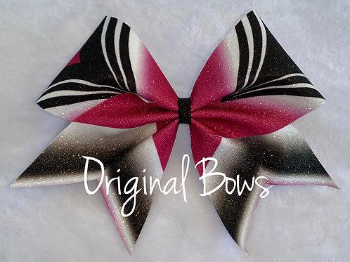 Girl POWER Hot Pink Glitter Cheer Bow