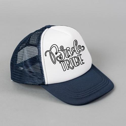 Bride Tribe Black White Hat