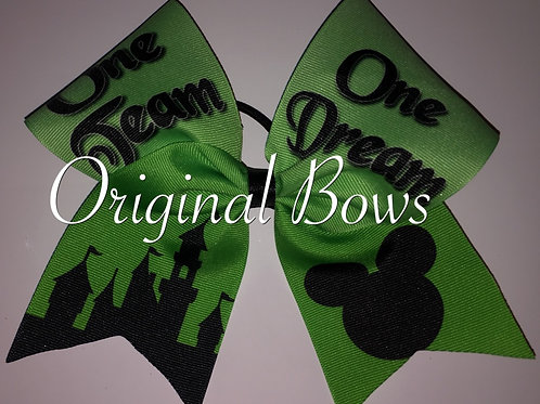 One Team One Dream Disney Worlds Themed Grosgrain Cheer Bow