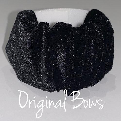 Black Velvet Scrunchie hair pony cuffs
