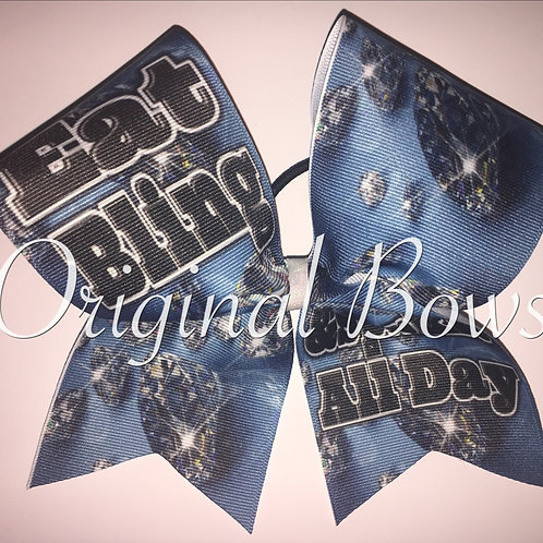 Eat BLING and Sparkle all Day Cheer Bow