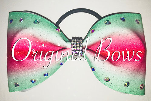 Melon Ombre Glitter Tailless Bow