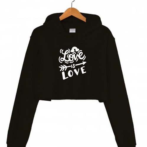 Love is Love Black Cropped hoodie