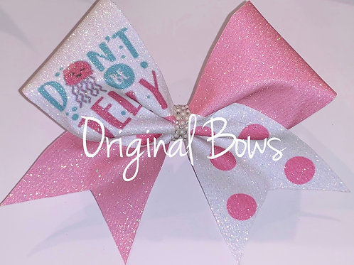 Don't be Jelly Glitter Bow