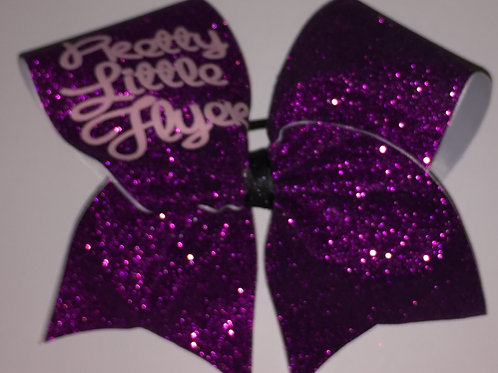 Pretty Little Flyer Purple Glitter Cheer Bow