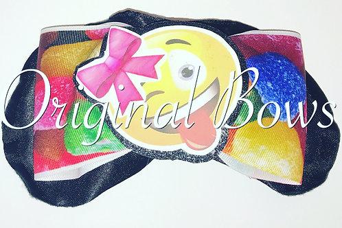 Candy Rainbow Emoji Cheer Bow Sleep Mask