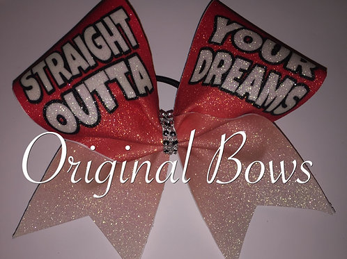 Straight Outta Your DREAMS Red Ombre Glitter Bow