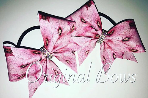 Pink Floral Pigtail Mini Bow