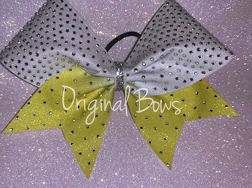 Sunsine Yellow Ombré Glitter rhinestone Cheer Bow