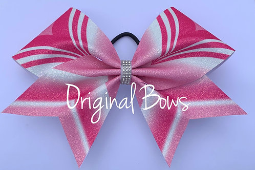 Pink Girl Power glitter Cheer Bow