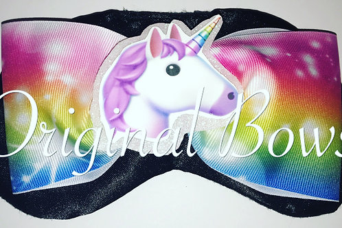 Unicorn Rainbow Emoji Cheer Bow Sleep Mask