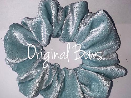 Ice Blue velvet Hair Scrunchie