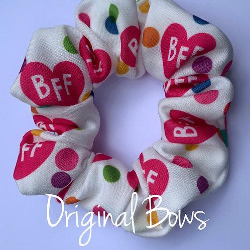 BFF Confetti Rainbow Scrunchie
