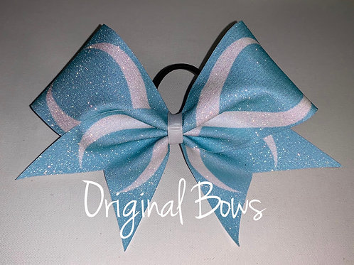 Baby Blues Infinity Glitter Cheer Bow