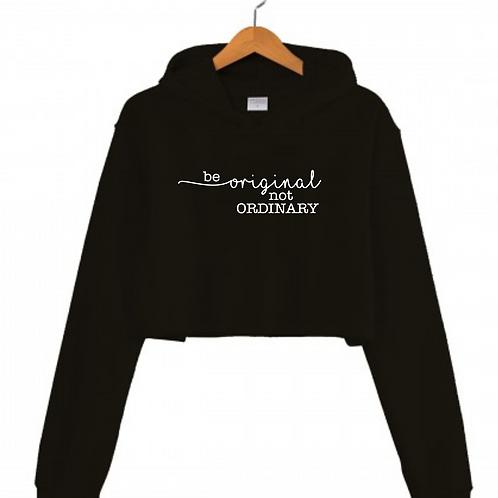 Be Original Black Cropped hoodie