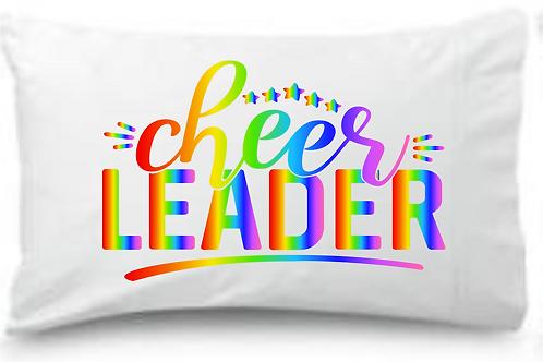 Rainbow Cheerleader Standard Pillowcase
