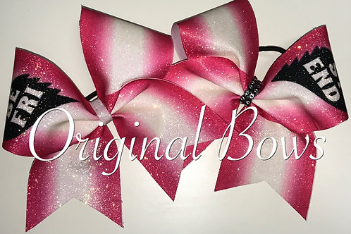 Red and White Ombre Best Friends Cheer Bow