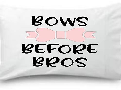 Bows Before Bros Standard Pillowcase