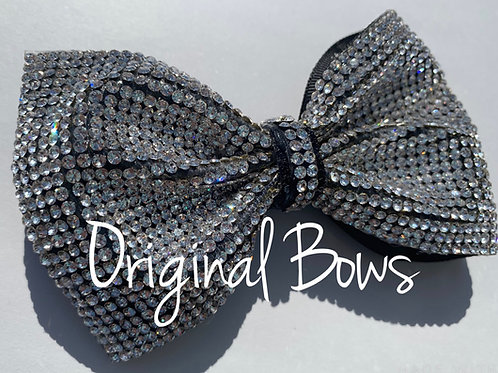 Classic Rhinestone Crystal tailless glitter bow