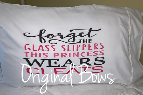 This Princess Wears Cleats Pillow Case