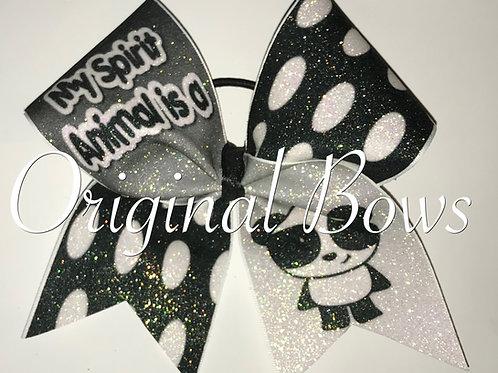 Panda glitter spirit Bow