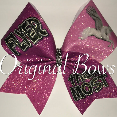 Pink Glitter FLYER than Most Cheer Bow