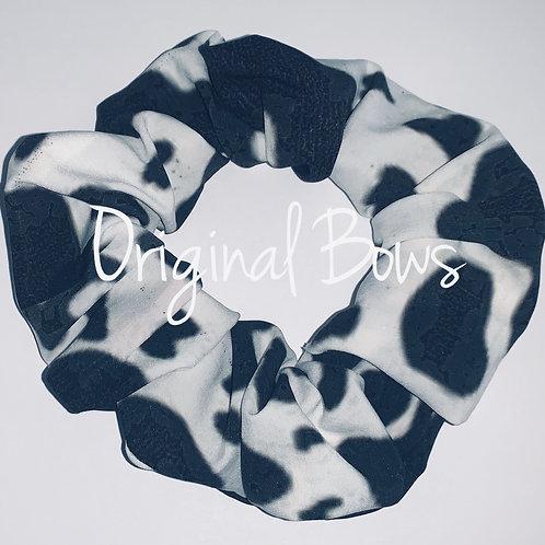 Cow Print Hair Scrunchie