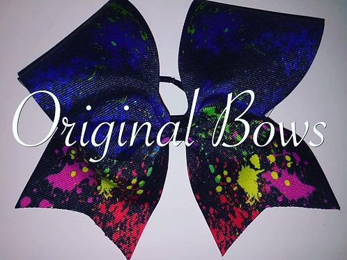 Splatter Paint  Grosgrain Cheer Bow