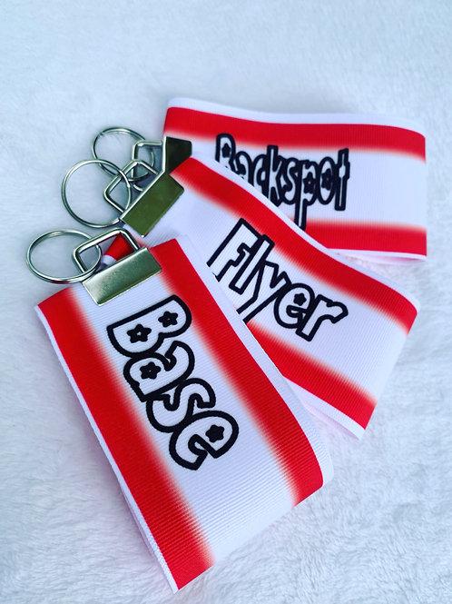 Flyer Base Backspot Ribbon Keychain Cheer stunt Group set