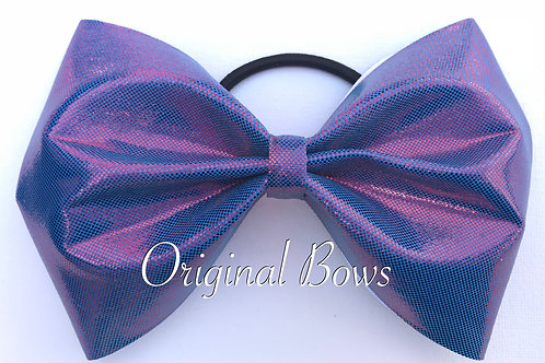 Blue and Pink Iridescent Tailless Bow
