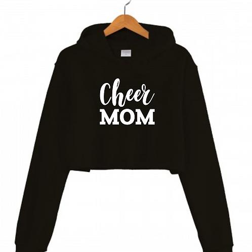CHEER MOM Black Cropped hoodie