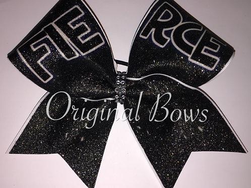 FIERCE Black Glitter Cheer Bow
