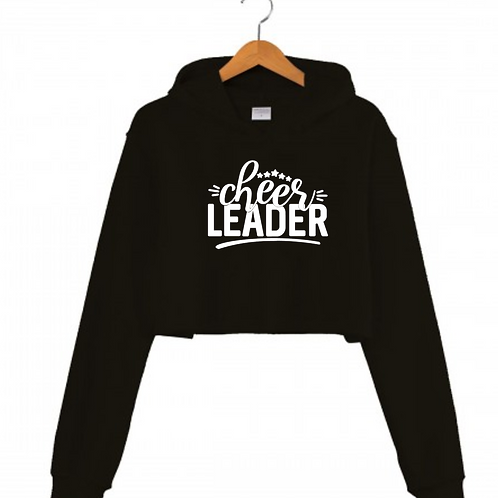 Cheerleader Black Cropped hoodie