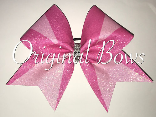 Pink 2 toned Glitter cheer bow