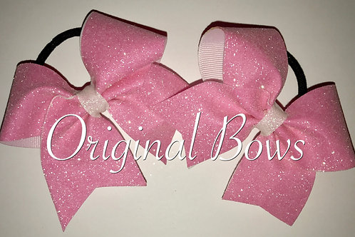 Pink Glitter Mini Cheer Bow