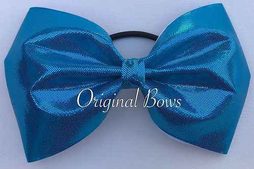"Blue Shimmer 4"" Tailless Bow"