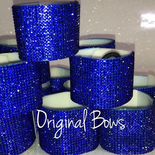 Cobalt Blue Rhinestone hair pony cuffs