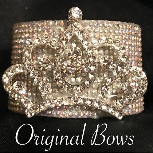 Crown Queen AB Rhinestone Pony Cuff Hair Accessory