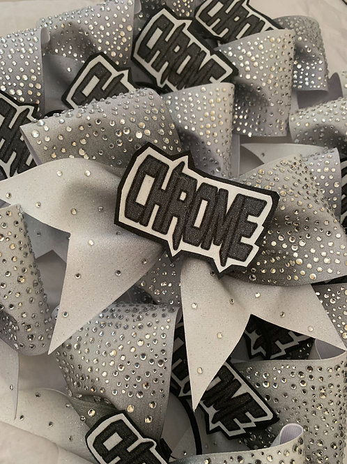 Ombre Glitter Rhinestone Cheer Bow with custom center