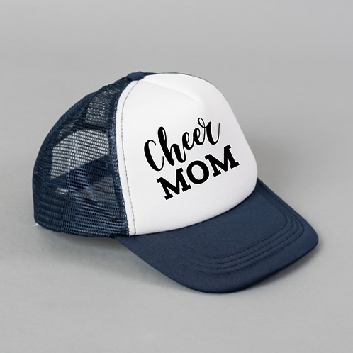 Cheer Mom Black White Hat