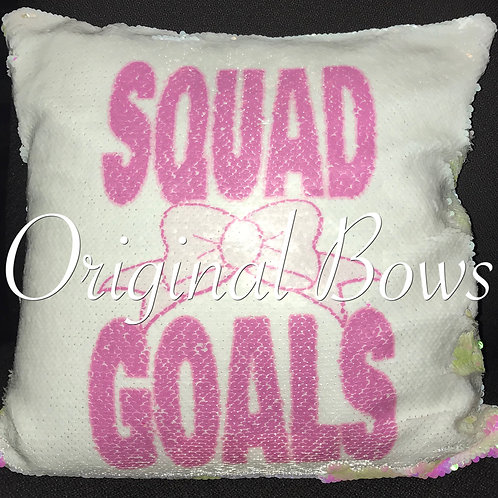 Mermaid Reversible Sequin Pillow Squad Goals Cheer Room Decor