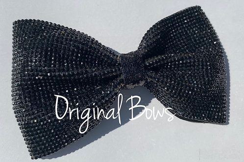 Little Black Glitzy Classic Gemstone tailless glitter bow