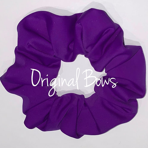 Purple Poly spandex Hair Scrunchie
