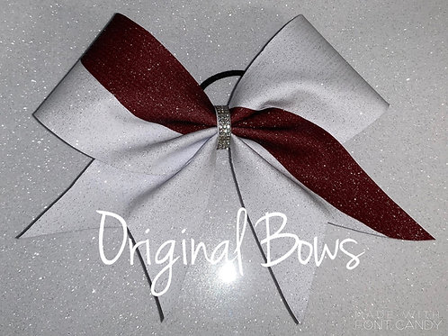 Two Toned Swish Glitter Cheer Bow
