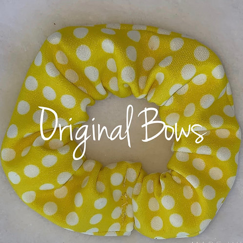 Yellow polka dots Hair Scrunchie