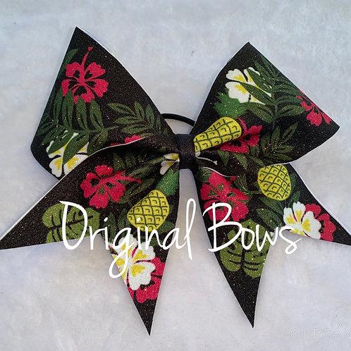 Tropical Paradise Island Glitter Cheer Bow