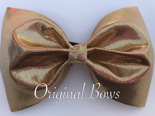 """Gold Shimmer 4"""" Tailless Bow"""