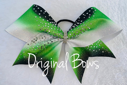 Green and lime Green Burst of colour Cheer Bow